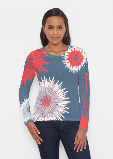 Flower Burst RWB (2027) ~ Signature Long Sleeve Crew Shirt