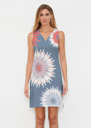 Flower Burst RWB (2027) ~ Classic Sleeveless Dress