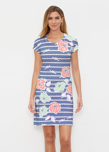 Knots Floral Navy (20270) ~ Classic Crew Dress