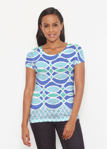 Ropes Blue (20305) ~ Short Sleeve Scoop Shirt