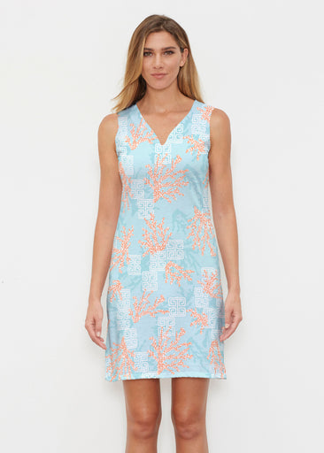 Shoreline Aqua (20332) ~ Classic Sleeveless Dress