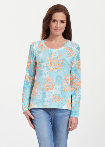 Shoreline Aqua (20332) ~ Texture Mix Long Sleeve