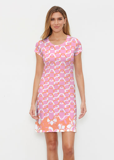 Squiggles Pink (20341) ~ Classic Crew Dress