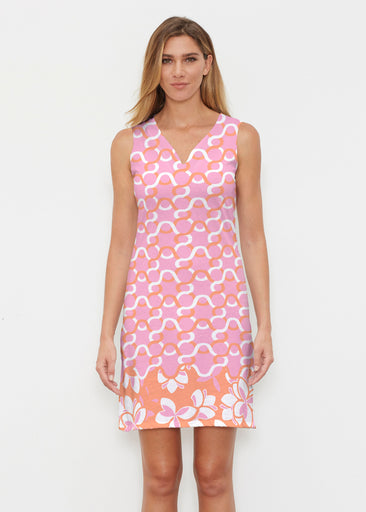 Squiggles Pink (20341) ~ Classic Sleeveless Dress