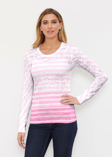 Breton Pink (20348) ~ Thermal Long Sleeve Crew Shirt