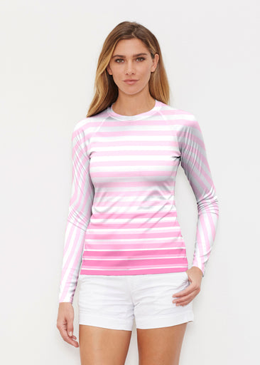 Brenton Pink (20348) ~ Long Sleeve Rash Guard