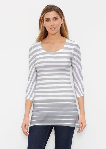 Breton Grey (20349) ~ Buttersoft 3/4 Sleeve Tunic