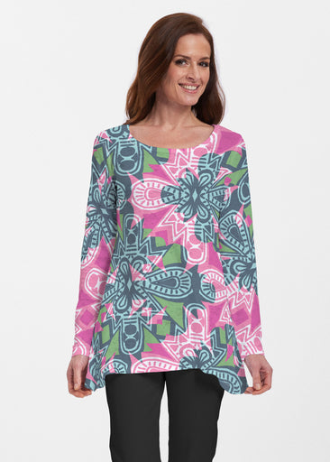 Geo Stamp (20370) ~ Abigail Thermal Tunic