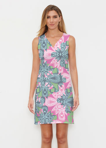 Geo Stamp (20370) ~ Classic Sleeveless Dress
