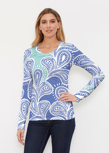 Paisley Burst (20373) ~ Thermal Long Sleeve Crew Shirt