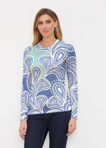 Paisley Burst (20373) ~ Butterknit Long Sleeve Crew Top