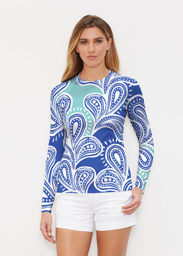 Paisley Burst (20373) ~ Long Sleeve Rash Guard