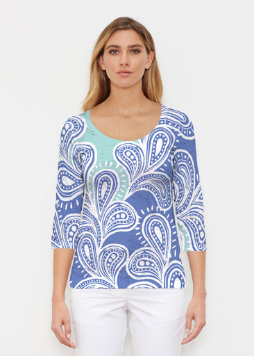 Paisley Burst (20373) ~ Signature 3/4 Sleeve Scoop Shirt