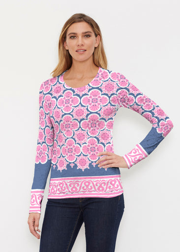 Isabella Pink (22059) ~ Thermal Long Sleeve Crew Shirt