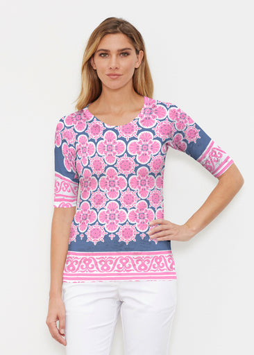 Isabella Pink (22059) ~ Signature Elbow Sleeve Crew Shirt