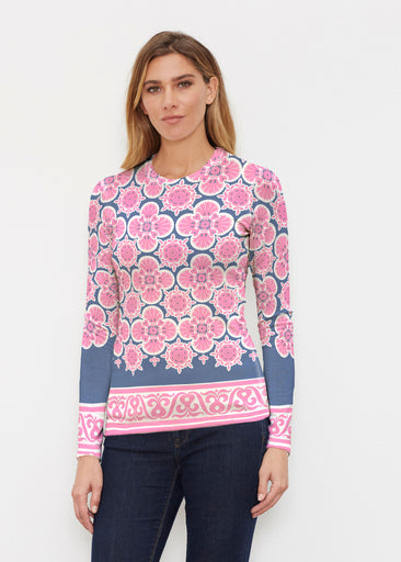 Isabella Pink (22059) ~ Butterknit Long Sleeve Crew Top
