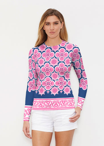 Isabella Pink (22059) ~ Long Sleeve Rash Guard