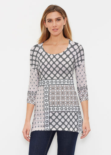 Miscellany Black (22069) ~ Buttersoft 3/4 Sleeve Tunic