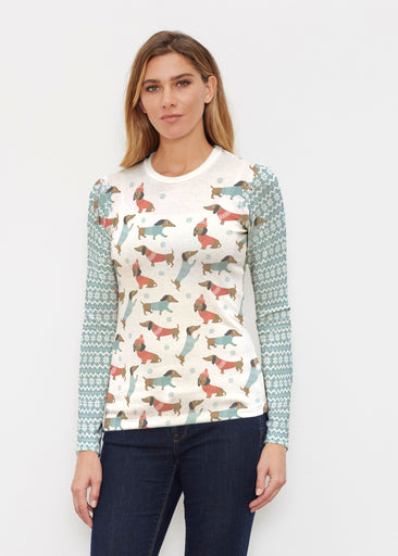 Dapper Mint (22104) ~ Butterknit Long Sleeve Crew Top