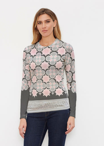 Isabella Black (22114) ~ Sweaterknit Long Sleeve Crew Top
