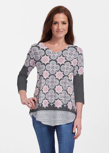 Isabella Black (22114) ~ V-neck Flowy Tunic