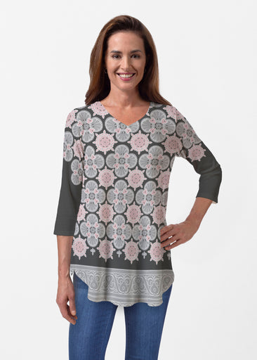 Isabella Black (22114) ~ Butterknit V-neck Flowy Tunic