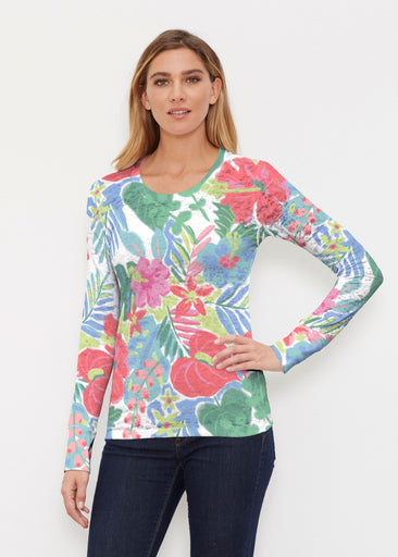 Hawaiian Fling (22141) ~ Thermal Long Sleeve Crew Shirt