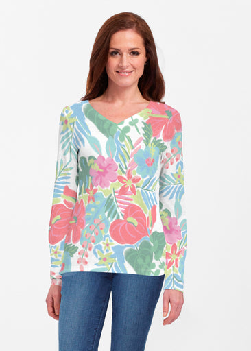 Hawaiian Fling (22141) ~ Classic V-neck Long Sleeve Top