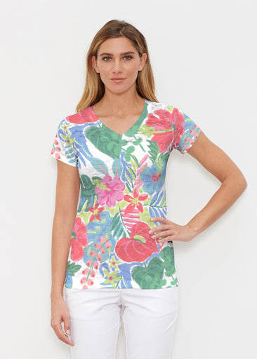 Hawaiian Fling (22141) ~ Signature Cap Sleeve V-Neck Shirt