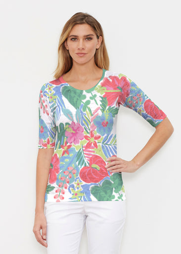 Hawaiian Fling (22141) ~ Elbow Sleeve Crew Shirt