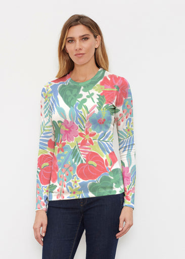 Hawaiian Fling (22141) ~ Butterknit Long Sleeve Crew Top