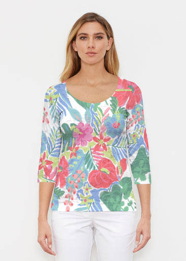 Hawaiian Fling (22141) ~ Signature 3/4 Sleeve Scoop Shirt