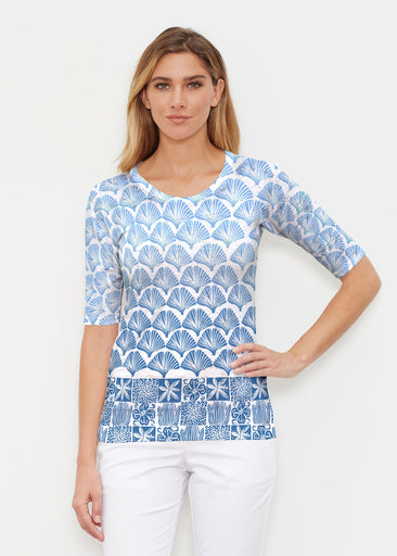 Faded Leaf Blue (2265) ~ Signature Elbow Sleeve Crew Shirt