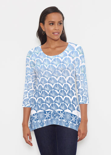 Faded Leaf Blue (2265) ~ Katherine Hi-Lo Thermal Tunic
