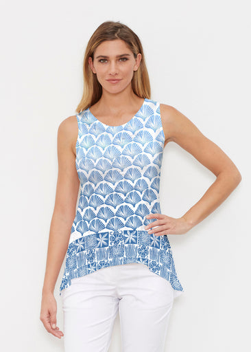 Faded Leaf Blue (2265) ~ High-low Tank