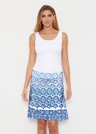 Faded Leaf Blue (2265) ~ Silky Brenda Skirt 21 inch