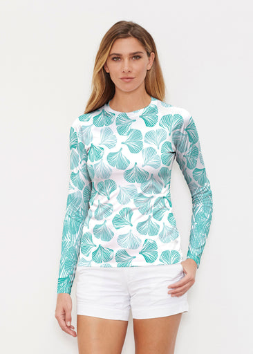 Ginko Turquoise (2291) ~ Long Sleeve Rash Guard
