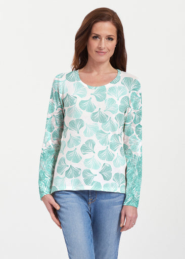 Ginko Turquoise (2291) ~ Texture Mix Long Sleeve