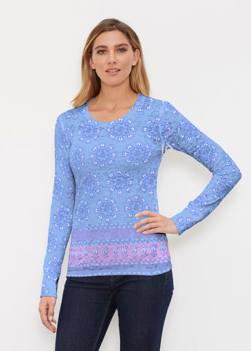 Maui Blue (2300) ~ Thermal Long Sleeve Crew Shirt