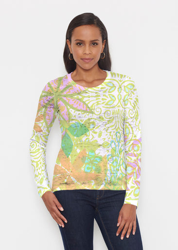 Kauai Lime (2301) ~ Signature Long Sleeve Crew Shirt