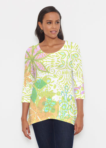 Kauai Lime (2301) ~ Katherine Hi-Lo Thermal Tunic