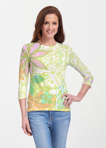 Kauai Lime (2301) ~ 3/4 Sleeve Crew