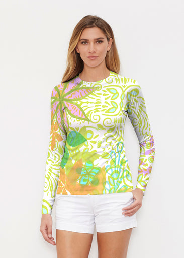Kauai Lime (2301) ~ Long Sleeve Rash Guard