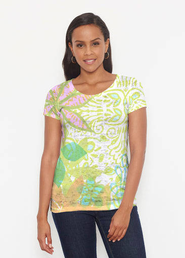 Kauai Lime (2301) ~ Short Sleeve Scoop Shirt