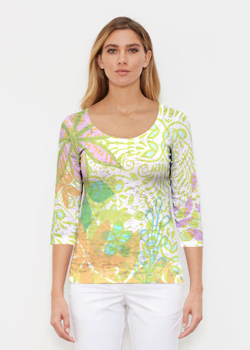 Kauai Lime (2301) ~ Signature 3/4 Sleeve Scoop Shirt