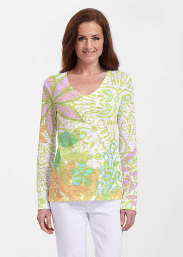 Kauai Lime (2301) ~ Thermal Long Sleeve V-Neck Shirt