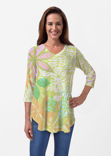 Kauai Lime (2301) ~ Butterknit V-neck Flowy Tunic