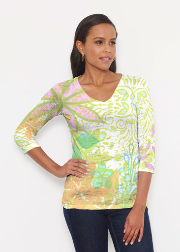 Kauai Lime (2301) ~ Signature 3/4 V-Neck Shirt