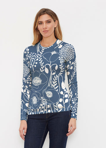 Conservatory Navy (23040) ~ Butterknit Long Sleeve Crew Top