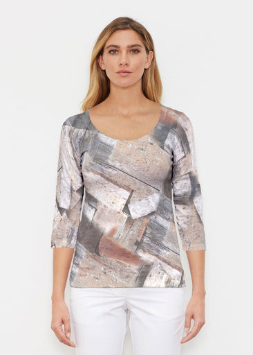 Driftwood (24013) ~ Signature 3/4 Sleeve Scoop Shirt